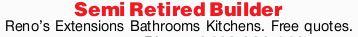 Reno's  Extensions  Bathrooms  Kitchens.   Free quotes.    QBCC Li...