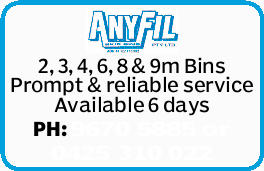 2, 3, 4, 6, 8 & 9m Bins   Prompt & reliable service   Available 6 days   PH:...