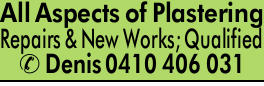 <p> All Aspects of Plastering </p> <ul> <li> Repairs & New Works</li> <li> Fully...</li></ul>