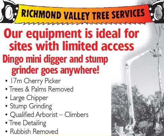 Richmond Valley Tree Services    Casino - Kyogle - Coraki   Evans Head - Bonalbo - Woodbu...