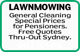 LAWNMOWING   General Cleaning   Special Prices for Pensioners.   Free Quotes   Th...