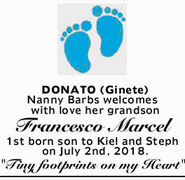 DONATO (Ginete)   Nanny Barbs welcomes with love her grandson   Francesco Marcel   1s...