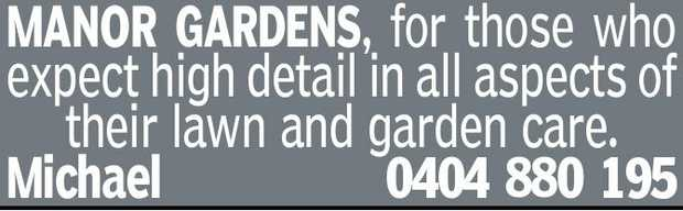MANOR GARDENS, for those who expect high detail in all aspects of their lawn and garden care. Mic...