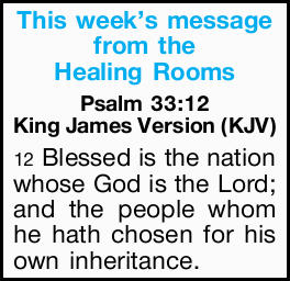 This week's message from the Healing Rooms 