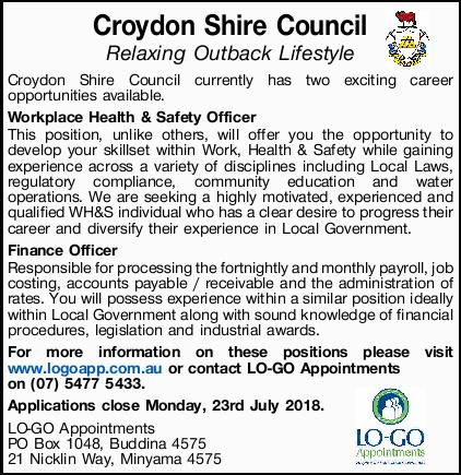 "<p align=""center""> <strong>Croydon Shire Council</strong> </p> <p align=""center""> <em>Relaxing...</em></p>"