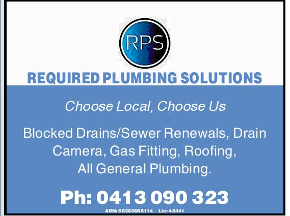 REQUIRED PLUMBING SOLUTIONS Choose Local, Choose Us Blocked Drains/Sewer Renewals, Drain Camera,...