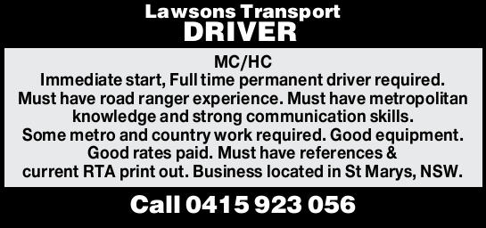 Lawsons Transport