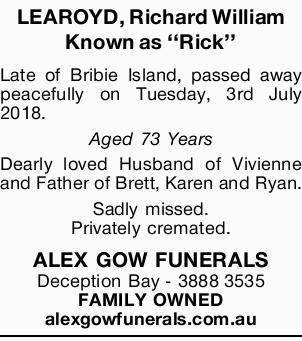 LEAROYD, Richard William