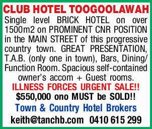 CLUB HOTEL TOOGOOLAWAH 
