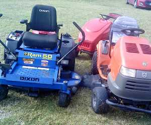 "<p> ZERO TURN Dixon Ram, 20hp Honda eng, 50"" cut, VGC $3175; + Husqvarna 1842, GC, $795, can del..."