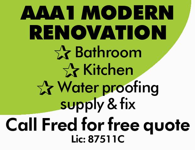 ALicensed Renovation Specialist    Bathroom  Kitchen  Water proofing suppl...