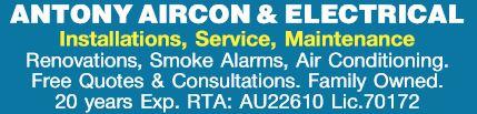 Installations, Service, Maintenance   Renovations, Smoke Alarms, Air Conditioning.   Free...