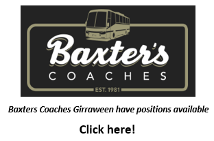 BAXTER'S COACHES GIRRAWEEN Currently have the following positions available.   1. Permane...