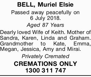 BELL, Muriel Elsie