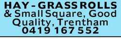 Grass Rolls& Small Square   Good Quality   Trentham