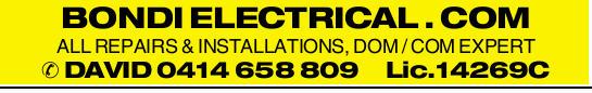 BONDI ELECTRICAL . COM ALL REPAIRS & INSTALLATIONS, DOM / COM EXPERT DAVID Lic.14269C