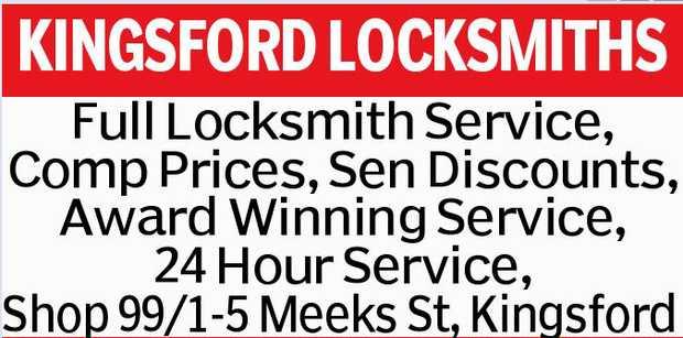 KINGSFORD LOCKSMITHS Full Locksmith Service, Comp Prices, Sen Discounts, Award Winning Service, 2...