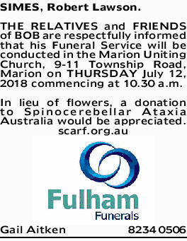Browsing Funeral Notices   Adelaide Classifieds   The Advertiser