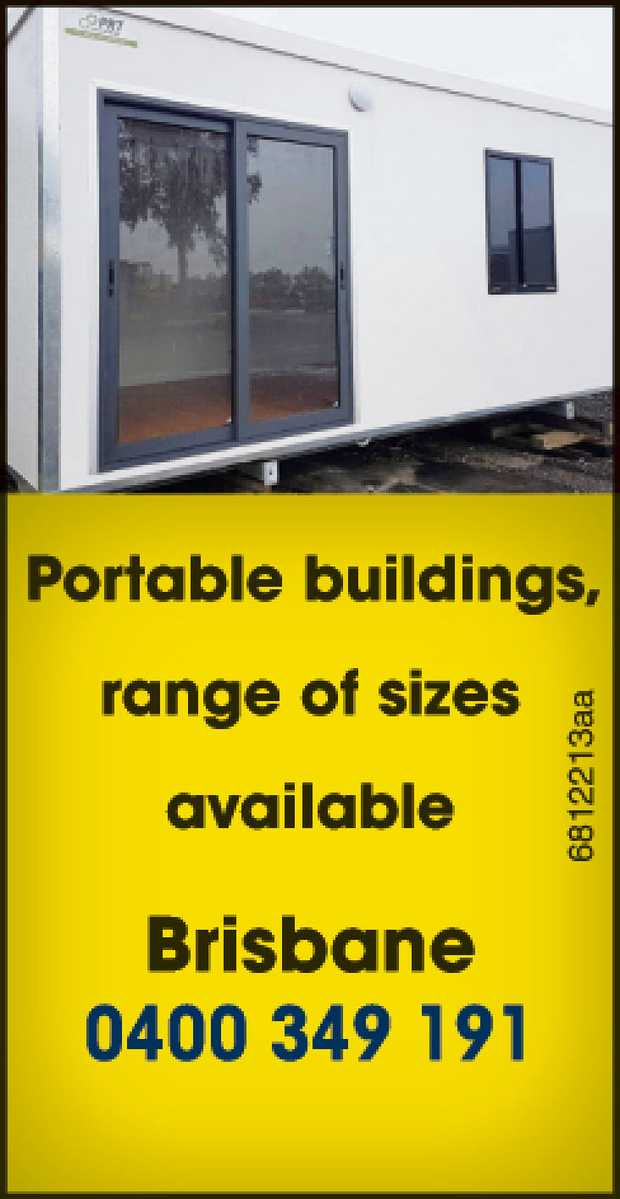 Portable buildings, range of sizes available.