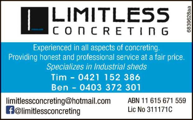 Experienced in all Aspects of Concreting
