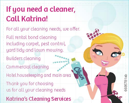 If you need a cleaneer, Call Katrina!   For all your cleaning needs, we offer.   Full ren...