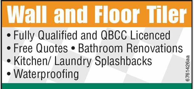 Fully Qualified and QBCCLicenced Free Quotes Bathroom Renovations Kitchen/ Laundry Sp...