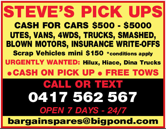 STEVE'S PICK UPS 