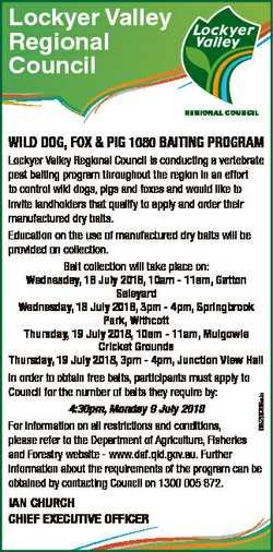 Lockyer Valley Regional Council WILD DOG, FOX & PIG 1080 BAITING PROGRAM 6826968ab Lockyer Valle...