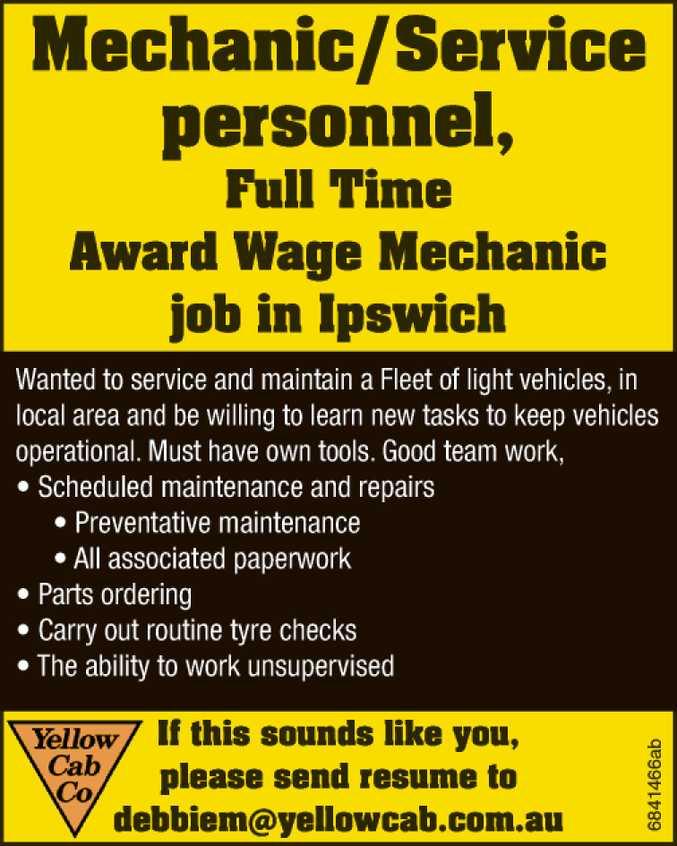 Mechanic / Service personnel