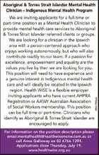 Aboriginal & Torres Strait Islander Mental Health Clinician