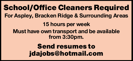 Bond Cleaners No experience required, training provided. Seeking an honest, reliable and hardwork...