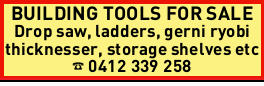 BUILDING TOOLS FOR SALE 