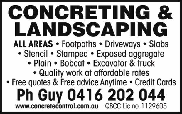 Concrete Control - Concrete & Landscaping