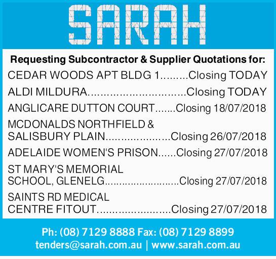 Requesting Subcontractor & Supplier Quotations for:   CEDAR WOODS APT BLDG 1.........Clos...
