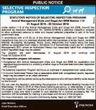 STATUTORY NOTICE OF SELECTIVE INSPECTION PROGRAM
