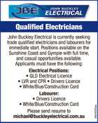 Trade Qualified Electricians and Labourers