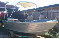 ALLYCRAFT 395 Avalon, 15hp Mercury, oars, sun roof, auto bilge pump, 2 f/finders, flares & li...
