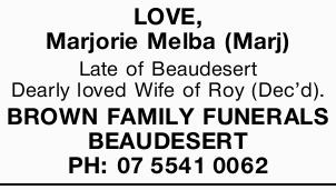 Late of Beaudesert.