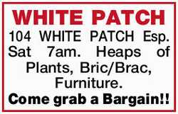 Sat 7am. Heaps of Plants, Bric/Brac, Furniture. Come grab a Bargain!!