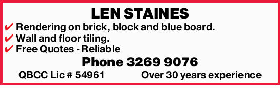 LEN STAINES