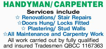 HANDYMAN/ CARPENTER