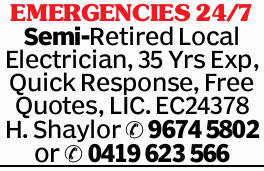 Semi-Retired Local Electrician    35 Years Experience  Quick Response  Free Quot...