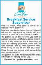 Breakfast Service Supervisor