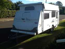 2008 twin beds. TV/DVD player. Shower/toil combo. Gas/elect cook top and grill.  Air con., 2 water t...
