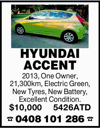 HYUNDAI ACCENT 2013