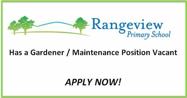 Rangeview Primary School in Mitcham is seeking a new Gardener / Maintenance person to look after...