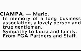 CIAMPA. _ Mario.