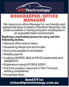 BOOKKEEPER / OFFICE MANAGER