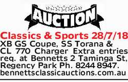 Classics & Sports 28/7/18   XB GS Coupe, SS Torana & CL 770 Charger   Extra entri...
