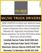 MC/HC TRUCK DRIVERS